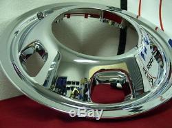 03-18 DODGE RAM 3500 17 Dually Chrome Wheel Simulators Dual Skins Liners Covers