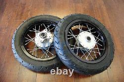 12 DRUM BRAKE FRONT REAR WHEEL SET With MOTARD TIRE for 12MM Axles M WMS02