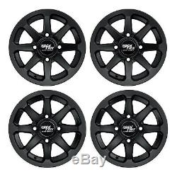 12 RockTrix RT102 ATV Wheels (12x7) for Honda Rancher Foreman Fourtrax SRA