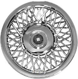 15 Universal Fit Chrome Wire Hubcaps / Wheel Covers # 1215 BRAND NEW SET 4