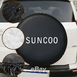 16 Tire Covers Weatherproof Sun Protectors RV Wheel Auto Truck Car Camper