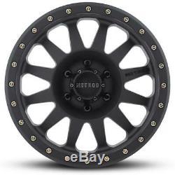 17 Black Wheels Rims Tires 33 12.50 33x12.50r17 Mud Mt Method Fuel Mr304