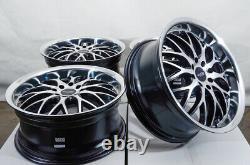 17 Wheels Fit Honda Civic Accord Nissan Versa Mini Cooper Cobalt Black Rims (4)
