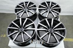 18 Wheels Fit Maxima Altima Juke Sentra Camry Corolla Accord Civic Black Rims
