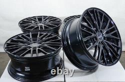 18 Wheels Rims Black Mercedes C230 C280 C300 E320 VW Jetta Passat EOS Audi A4