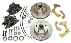 1959-64 Chevrolet Chevy Front Power Disc Brake Conversion Lower Wheel Kit Set