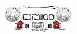 1964-72 A-Body D/S 4 Wheel Disc Brake Performance Conversion Kit, Red