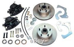 1965-68 Chevrolet Impala Front Power Disc Brake Conversion Lower Wheel Set Kit