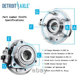 2007 2008 2009 Equinox Torrent XL7 Front Wheel Bearing and Rear Hub Assembly Kit