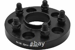 2010-2016 Chevy Camaro Black Hub Centric 20 MM Thick Wheel Spacers Adapters