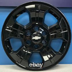2014-2019 Chevrolet Silverado 1500 # IMP-392BLK 18 BLACK Wheel Skins NEW SET/4