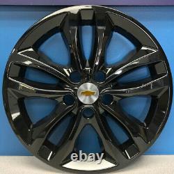 2016-2018 Chevrolet Malibu LT / Hybrid 17 Gloss Black Wheel Skins 7571-GB SET/4