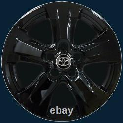 2019-2021 Toyota RAV4 XLE Model # 7977-GB 17 5 Spoke Black Wheel Skins SET/4
