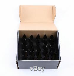 20PCS Black M12X1.5 Racing Wheel 60MM Lug Nuts For Honda