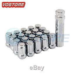 (20) 12x1.5 Lug Nuts + Lock Key 5x114.3 5x4.5 for Ford Chevy Honda Acura Wheel