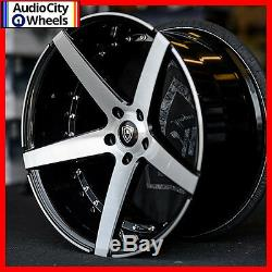 20 MQ 3226 WHEELS BLACK MACHINED FACE STAGGERED RIMS 5x114.3 FIT FORD MUSTANG