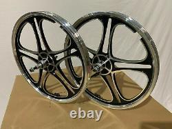 20 x 35mm BMX Front & Rear Freewheel Alloy Wheels set w 10 spokes Polish M02