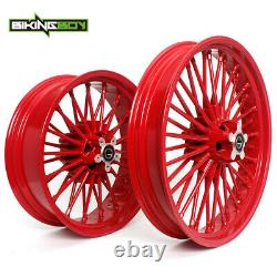 21 18'' Front Rear Cast Wheels Single Disc for Sportster Dyna Softail Touring
