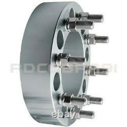 2 Pc Dodge Ram 2500 3500 Dually 9/16 Thread 2 8 Lug Wheel Spacers Adapters