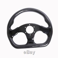 300MM Racing Steering Wheel Cover Carbon Fiber 6 Holes Universal Semicircle Jet