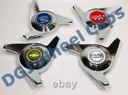 3 Bar Cut Chrome Knock-Off Spinner Caps for Lowrider Wire Wheels (M)