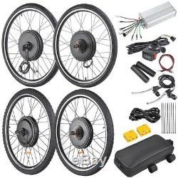 48V 1000W 26 Front/Rear Wheel Electric Bicycle Motor Kit E-Bike Conversion Kit