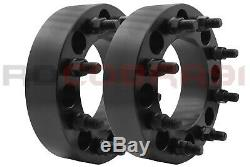 4Pc 8x6.5 To 8x6.5 1999-2010 GMC Sierra 2500HD 3500HD 2 inch Wheel Spacers 8 Lug
