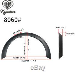 4Pcs Universal 60mm + 80mm Width JDM ABS Fender Flares New School Wheel Arches