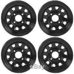 4 ATV/UTV Wheels Set 12in ITP Delta Steel Black 4/110 5+2/2+5 SRA