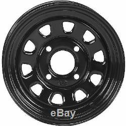 4 ATV/UTV Wheels Set 12in ITP Delta Steel Black 4/110 5+2 IRS
