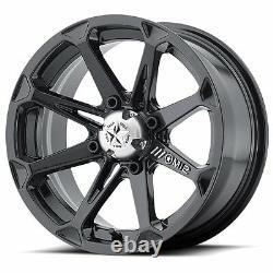 4 ATV/UTV Wheels Set 14in MSA M12 Diesel Black 4/110 10mm/-47mm SRA