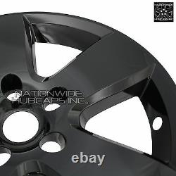 4 Black 20 Wheel Skins fit Dodge Ram 1500 2009-2012 Hub Caps 5 Spoke Rim Covers