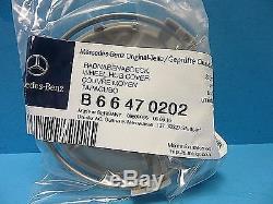 4 Genuine Wheel Hub Cap Mercedes Benz Star OEM # 2204000125 Alloy Wheel Silver