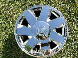 4 NEW Chrome Cadillac CENTER CAPS fit OEM Deville Eldorado SLS DHS DTS Wheels