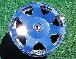4 New Cadillac Escalade Chrome GOLD Genuine OEM Factory logo Wheel CENTER CAPS