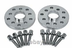 4 Pc Audi VolksWagen Staggered 10 MM & 15 MM Wheel Spacers 5x100 5x112 57.1 H. B