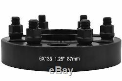 4 Pc Ford F-150 Black 1.25 Hub Centric Wheel Spacers Adapters Raptor Expedition