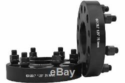 4 Pc Silverado 1500 Truck 1.25 Black Hub Centric Wheel Spacers Adapters 14x1.5
