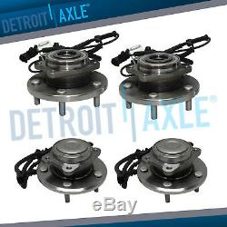 4pc 08-16 Dodge Grand Caravan Town & Country Front Wheel Bearing and Rear Hub