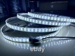 4x 17.5'' LED Wheel Lights Strobe Pure White Double Row Switch Control For Truck
