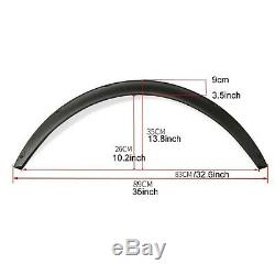 4x 3.5/90mm Universal Flexible Car Fender Flares Extra Wide Body Wheel Arches