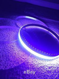 4x DOUBLE ROW 15.5 LED Wheel Rim Lights Bluetooth Controlled KIT Wheel Rings