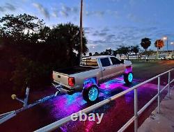 4x DOUBLE ROW LED Wheel Rim Lights Bluetooth Controlled KIT Wheel Colormorph