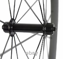700C 60mm Road Bike Wheels Clincher Carbon Wheelset Front & Rear Wheels Bicycle