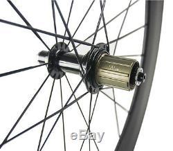 700C 88mm Clincher Carbon Fiber Wheels Bike Wheels Front & Rear Road Wheelset