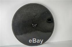 700C Bicycle Wheels Tri Spoke & Disc Wheel Carbon Wheelset Customized Road Wheel