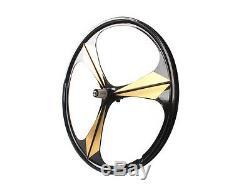 700C Road Bike 3-Spoke Mag Wheels Wheelset Set Rims Disc Brake 8/9/10 Speed WithQR