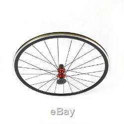 700C Road Bike Cycle Wheel Front Rear Wheelset Aluminium Alloy Rim Brake C/V USA