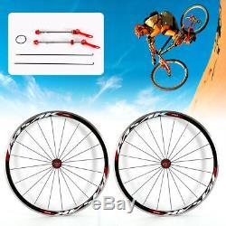 700C Ultralight Road Bicycle Bike Wheel Front Rear Wheel Wheelset Rim Brake C/V