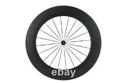 88mm Carbon Wheelset Clinhcer Road Bike Carbon Fiber Front /Rear Wheels In USA